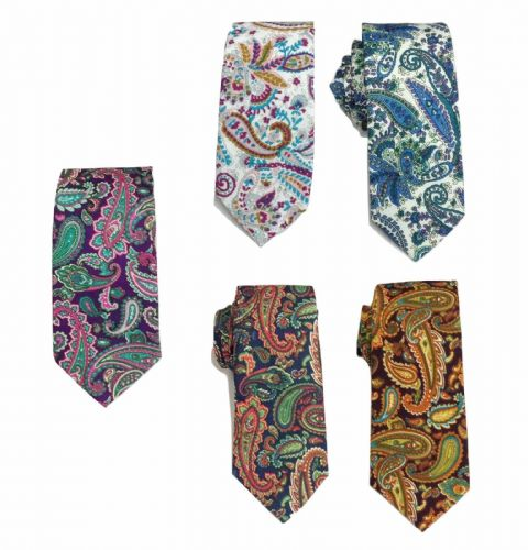 Men's Vintage Graffiti Woven Paisley Jacquard Tie Christmas Gift Prom Wedding